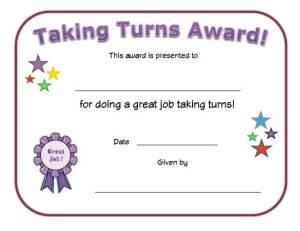 taking-turns-award-certificate